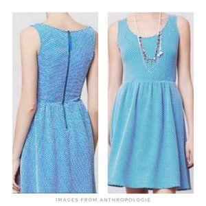 Maeve ▪ Caldera Blue Polka Dot Fit & Flare Dress